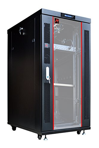 27U Free Standing Server Rack Cabinet.Fit most of servers. ACCESSORIES FREE!! Network IT Rack Cabinet Enclosure. ()