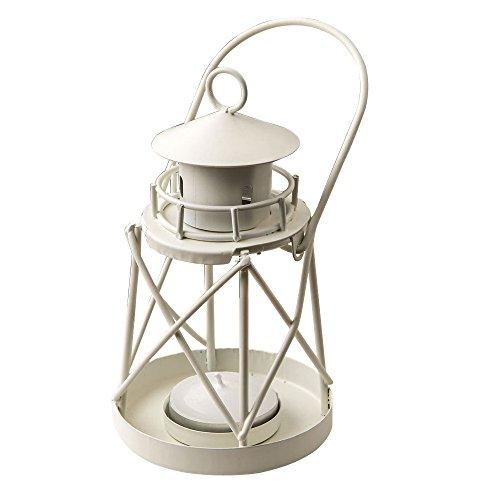 FC White Mini Lanterns Decorative for Wedding Party Tealight Lighthouse Luminous décor 9 Pack (Luminous Mini Lanterns)