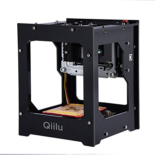 Qiilu 1500mw Laser Engraving Machine Mini DIY USB Engraver Printer CNC Router Cutting Carver Off-line Operation with Goggles for Art Craft Science for Win 7, XP, Win 8, Win 10, ios 9.0, android 4.0