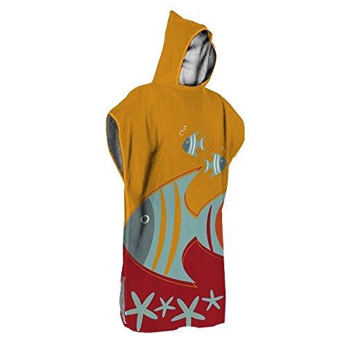 Tucantex Poncho Piscina - Toalla de baño con capucha para niños entre 2-6 años: Amazon.es: Ropa y accesorios