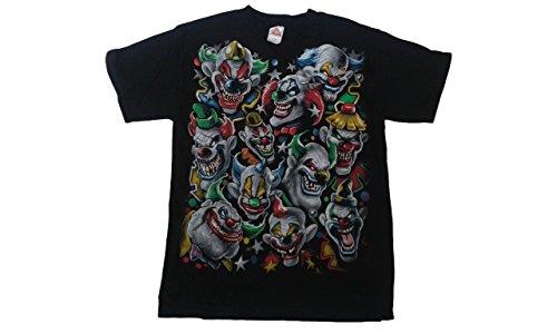 Mens Evil Clowns Juggalo Joker Horror Shirt (Black, Medium) -
