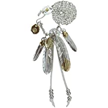 Goros Feather Silver Pendant Necklace