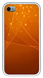 iPhone 4 4s Case, iPhone 4 4s Cases - Patterns Orange Swirl TPU Polycarbonate Hard Case Back Cover for iPhone 4 4s¨C White
