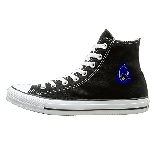 LUMAN Space Travel Simple High-Top Classic Canvas Shoes - Nyc Store Shut