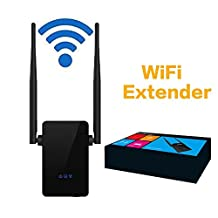BeiLan WiFi Range Extender 300Mbps Wireless WiFi Repeater with Dual External Antennas and 360 Degree WiFi Covering