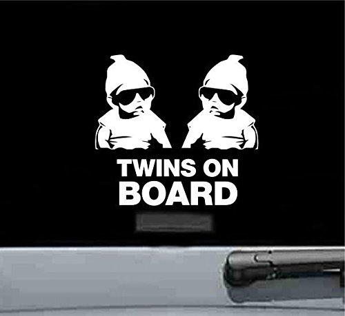 Twins On Board Carlos Vinyl Decal Sticker (WHITE)