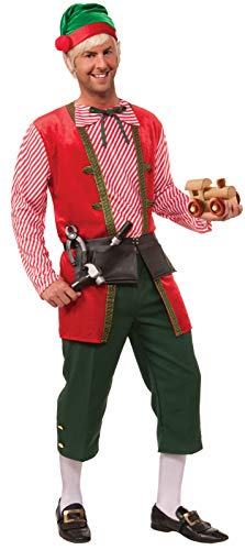 Forum Novelties Men's Toy Maker Elf Costume, Green/Red, One Size]()
