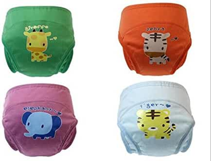2017 New Anti Leakage Training Pants Baby Toddler Cute 4 Layers Potty Training Pants reusable Set of 4 Pieces