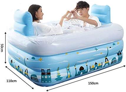HUOQILIN 太い暖かい折り畳み式インフレータブル浴槽大人の絶縁ポンプカバーテープ150 * 112 * 50センチメートル