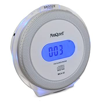 Marquant MCK-83 Radiowecker mit CD-Player weiß: Amazon.de: Elektronik