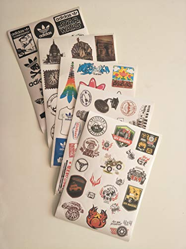 5PCS Retro Vintage Landmark Monument Travel Airline Plane Patterns Stickers. (Luggage, Suitcase Laptop Waterproof Stickers Children's Room)