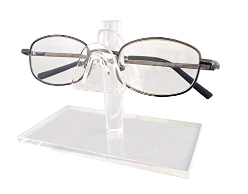 Source One Single Tier Clear Acrylic Sunglasses Eyeglasses Display Stand Holder Fixture (S1-1-Glasses)