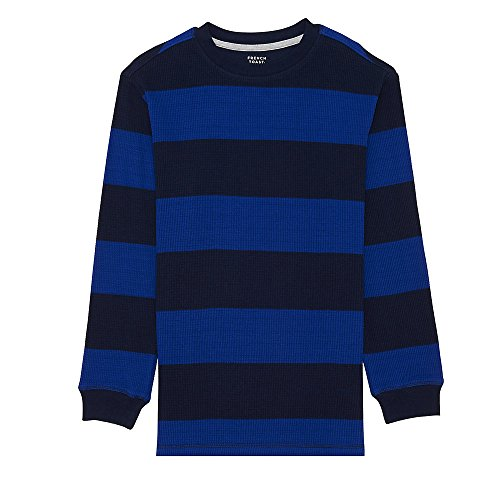 (French Toast Boys' Little Long Sleeve Rugby Stripe Thermal Tee, surf The Web 6)