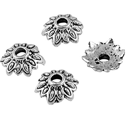 100-tibetan-style-antique-silver-platinum-rhodium-flower-bead-cap-8mm-lead-cadmium-nickel-free