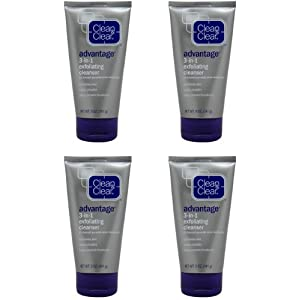 CLEAN & CLEAR ADVANTAGE 3-In-1 Exfoliating Cleanser 5 oz (Pack of 4)
