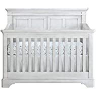 Evolur Provence 5 in 1 Convertible Crib I Full Panel Crib I Easily Coverts Into Toddler Bed, Daybed or Full- Size Bed, White
