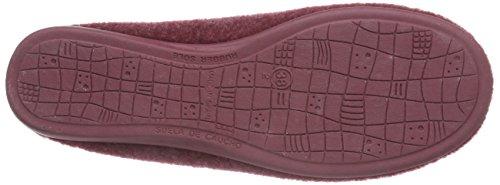 Gabor Home 38001009S burdeos - pantuflas de fieltro mujer rojo - rojo (burdeos)