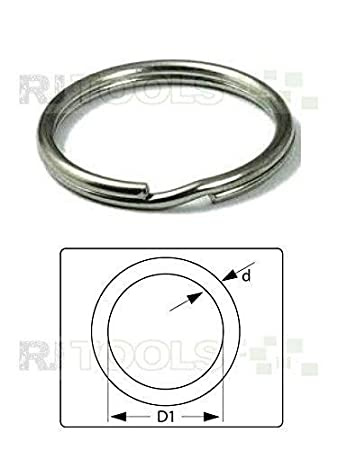 100 St/ück Schl/üsselringe 20 mm Stahl Schl/üsselring Gl/änzend NEUWARE TOP-ANGEBOT 933511