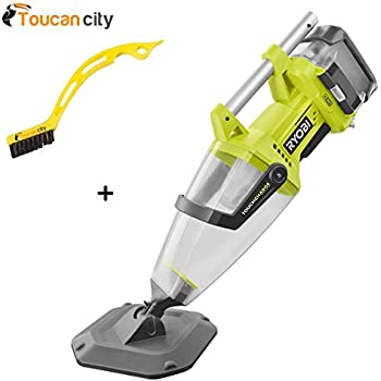 Amazon Com Toucan City Ryobi 18 Volt One Underwater Stick Vacuum P3500k And Tile And Grout Brush Garden Amp Outdoor