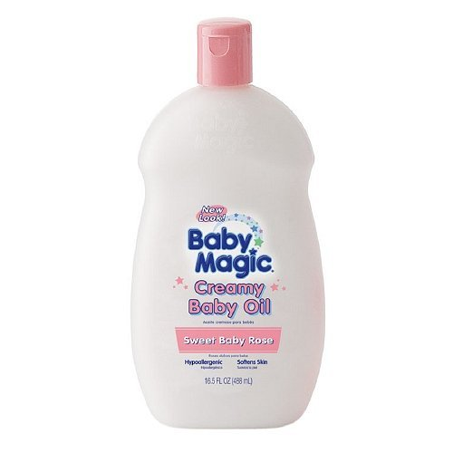 Baby Magic Creamy Baby Oil 16.5 fl oz / 488 ml (Pack of 2)