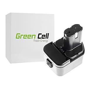 Green Cell® Batería de Herramienta Eléctrica para Hitachi DS12DM (Ni-Cd 1.5Ah 12V)