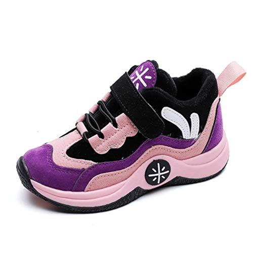11 De De Jaune Zhrui Marche Chaussures Pour Taille Sports Fourrure Antidérapant Violet Uk Hiver couleur Chaud Running Enfants Unisexe 881Fxa