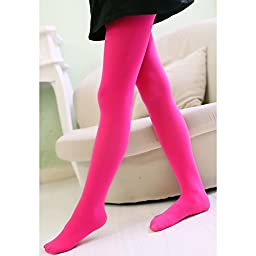 Happy Cherry Girls Solid Color Tights Legging Pants Dance Socks Footed Tights 4 Pack 8-13Y