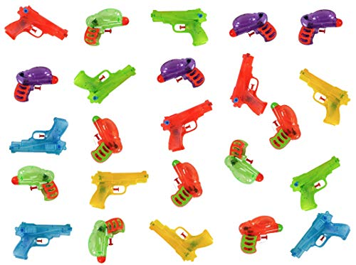 West End Studios Water Squirt Guns (24 Pack) Summer Party Pool Toys -