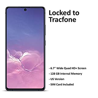 Tracfone Carrier-Locked Samsung Galaxy S10 Lite Prepaid Smartphone - Black - 128GB - Sim Card Included – CDMA/GSM