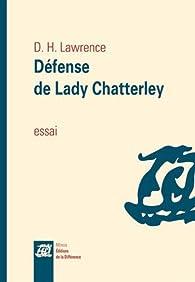 Défense de Lady Chatterley par D.H. Lawrence