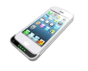 URGE Basics iPhone 5 Rechargeable External Battery 2100mAh Snap-on Case - AT&T, Sprint, Verizon, T-Mobile - White
