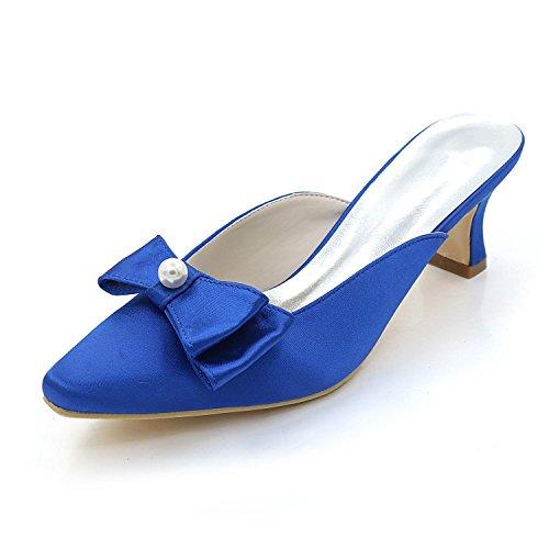 L@YC Women'S Shoes Low Heels High Heels / Night / Slippers Sandals Wedding Party Blue eYouiwX3N