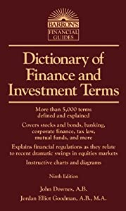 Dictionary of Finance and Investment Terms (Barron's Business Dictionaries)