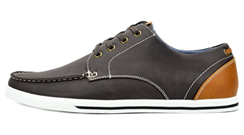 Bruno Marc Men's RIVERA-02 Dark Brown Oxfords Shoes Sneakers – 8 M US