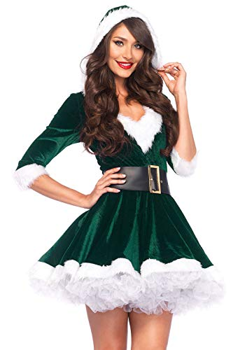 Leg Avenue Women's Mrs. Claus, Green, Medium/Large (Party Costumes Christmas For)