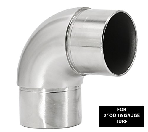 Stainless Steel 316 Railing Connector Flush Elbow Fitting 90 Degree for 2