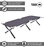 Tough Outdoors Camp Cot [Large] with Free Organizer