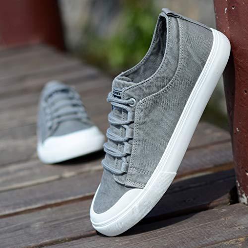 da Black uomo scarpe Scarpe uomo uomo selvaggia da WangKuanHome casuale tela Color di scarpe scarpe da 43 Size estate traspirante tendenza Beige 6EnX6w1Wqf