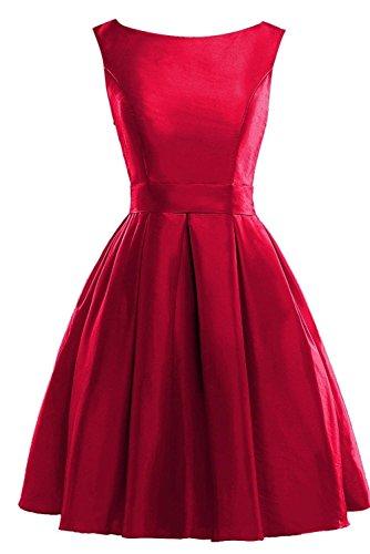 Satin Mini Line Dress Homecoming Bridal Bess Scoop A Women's Burgundy Bridesmaid wCUf0Bq