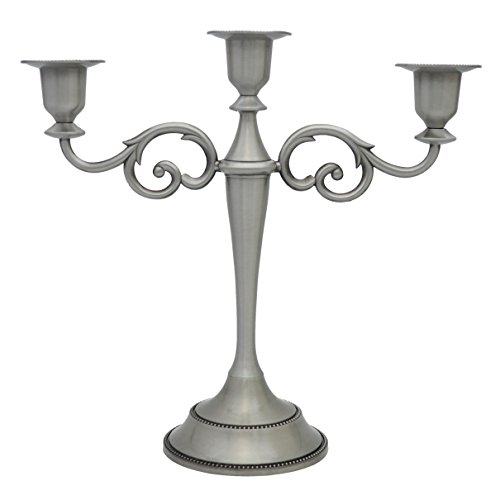 3-Candle Metal (Pewter Candelabra)