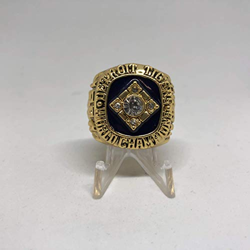 (1984 Alan Trammell Detroit Tigers High Quality Replica World Series Ring Size 11-Gold)