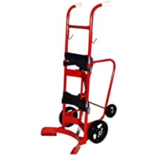 Milwaukee Hand Trucks 42779 55 Gallon 4 Wheel Poly/Steel Drum Truck with Two Piece Strap