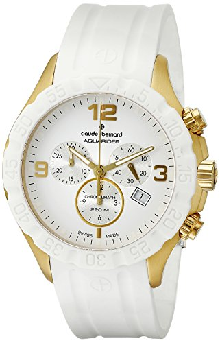 Claude-Bernard-Mens-10201-37JB-BID-Analog-Display-Swiss-Quartz-White-Watch