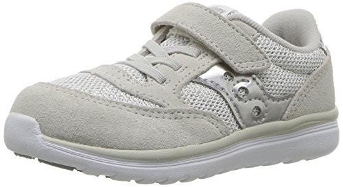 Saucony Baby Jazz Lite Sneaker (Toddler/Little Kid/Big Kid), Silver Metallic, 7.5 M US - Toddler Footwear Silver Metallic