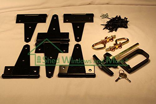 Shed Door Hardware Kit, T-hinges 6