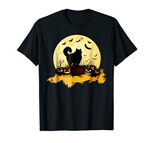 Halloween Ragdoll Shirt Cat Pumpkin Moonlight Bats