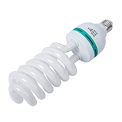 Photography Compact Fluorescent CFL Daylight Balanced Bulb with 5500K Color Temperature for Photography & Video Studio Lighting