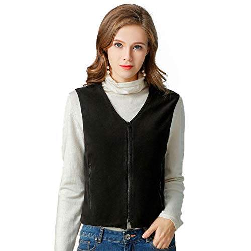women electric heated vest fleece slim fit