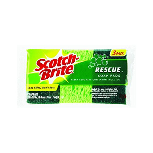 Scotch-Brite Rescue Soap Filled Mini Pads 3 pk (Pack of 12) - Filled Pads