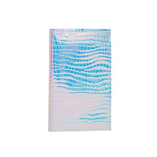 Zarapack Women's Hologram Pu Leather Anti Wrinkle Passport Wallet Cover Travel Id Card Holder (Hologram Cross Embossed) ()
